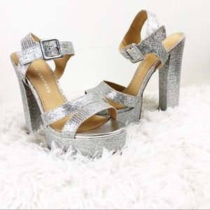 New Years heels! Chinese Laundry silver pumps 8.5